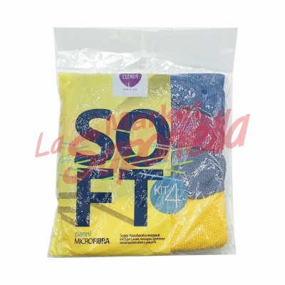Clendy soft lavete in microfibra-4 bucati